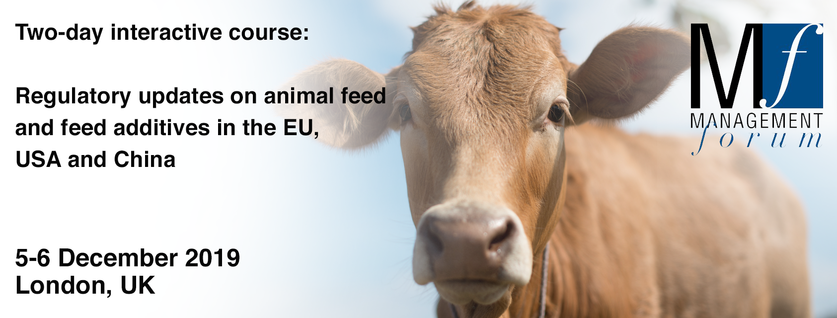 Join us for a two-day interactive course on regulatory updates on animal feed and feed additives in the EU, USA and China